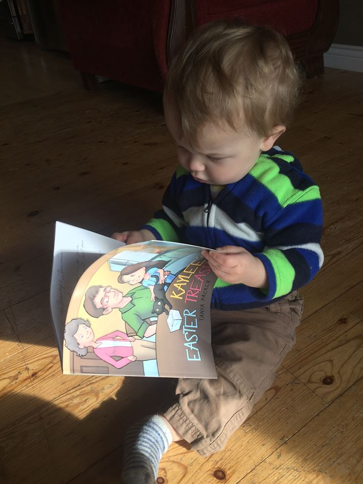 Ben with Easter book