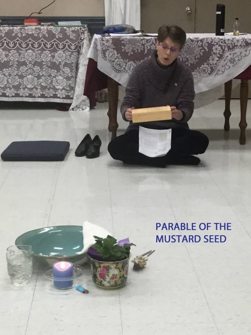 me telling mustard seed parable